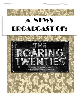 Roaring 20s News Broadcast/Skit Project: Flappers, Sports, Airplanes, Movies