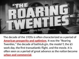 Roaring 20s PPT overview