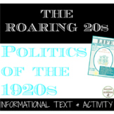 Roaring 20s Politics of the 1920s Text and Project with ED