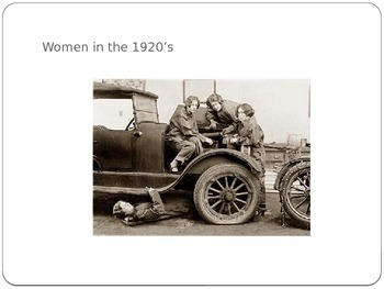 Roaring 20's Powerpoint Lesson