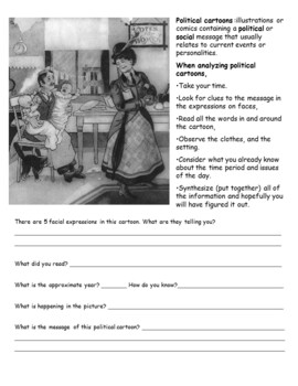 Roaring 20s: Primary Sources, Close Reads, Analyzing Political Cartoons