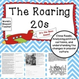 Roaring 20s: Primary Sources, Close Reads, Analyzing Polit