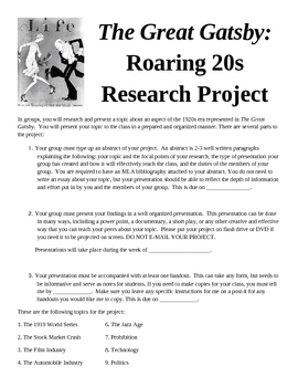 Roaring 20s Project