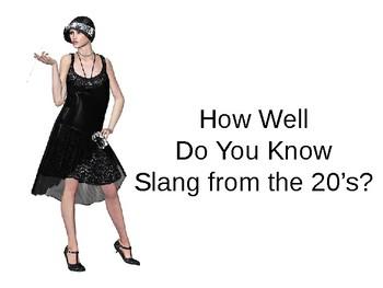 Roaring 20s Slang Warm Up