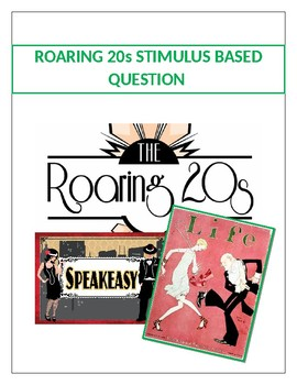 Roaring 20s Stimulus Based Questions