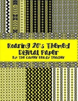 Roaring 20's Themed Digital Paper