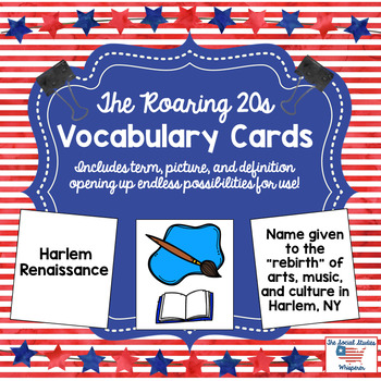 Roaring 20s Vocabulary Cards