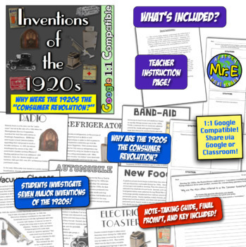1920s, Roaring 20s, 1930s, & Great Depression Unit: 11 activities for 1920s-30s!