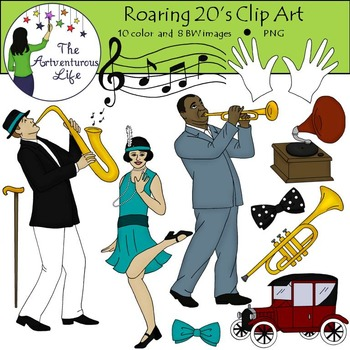 Roaring 20s and Jazz Age Clip Art