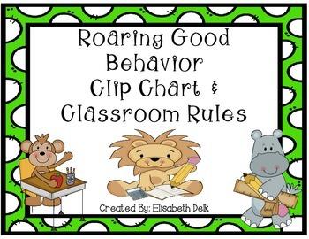 Roaring Good Behavior Clip Chart & Classroom Rules Pack