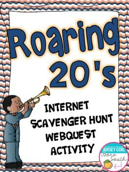 Roaring Twenties 20's Internet Scavenger Hunt WebQuest Activity