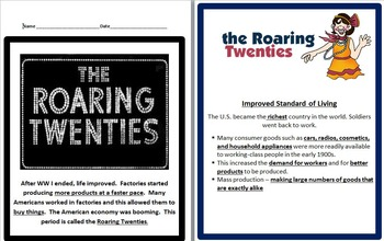 Roaring Twenties BUNDLE- 5th Social Studies