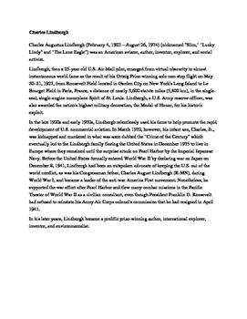 Roaring Twenties Celebrity Comparison Assignment