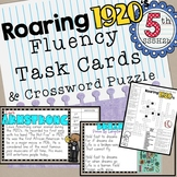 Roaring Twenties Fluency Task Cards and Crossword Puzzle 1920's important people