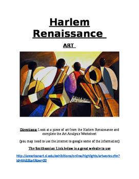 Roaring Twenties- Harlem Renaissance- Art- Activity