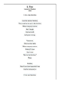 Roaring Twenties- Harlem Renaissance- Poetry