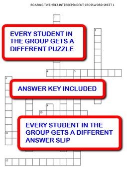 Roaring Twenties: Interdependent Crossword Puzzles