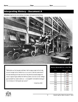 Roaring Twenties Lesson: Causes of Economic Prosperity in the 1920s