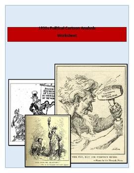 Roaring Twenties Political Cartoon Activity