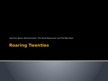 Roaring Twenties Powerpoint
