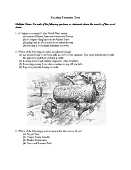Roaring Twenties Unit Test