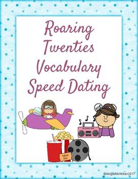 Roaring Twenties Vocabulary Speed Dating