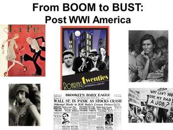 Roaring Twenties and Great Depression PowerPoint and Guided Notes