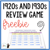Roaring Twenties and The Great Depression Review Game