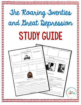Roaring Twenties and The Great Depression Study Guide