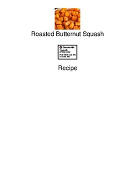 Roasted Butternut Squash - visually supported recipe / picture supports visuals