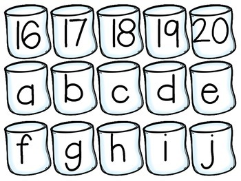 Roasting Marshmallows ABC's and 123's