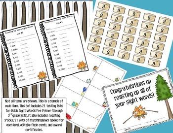 Roasting Up Some Sight Words- Sight Word Mastery Program