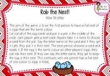 Rob the Nest - Alphabet edition