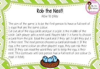 Rob the Nest - CCVC Edition