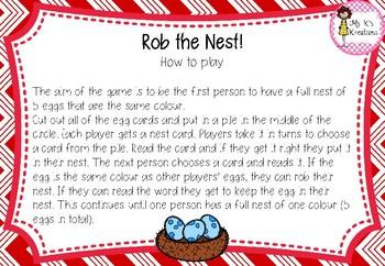 Rob the Nest - CVC edition
