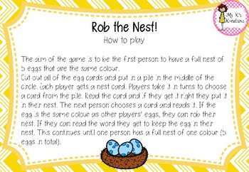 Rob the Nest - Digraph Edition