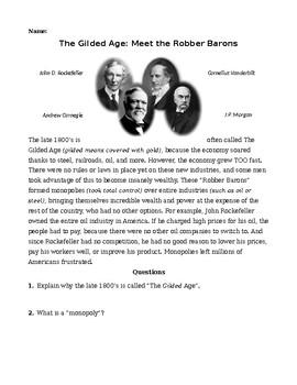 Robber Barons: Meet Carnegie, Rockefeller, Morgan, Vanderbilt & Their Monopolies