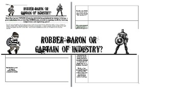 Robber Barons or Captains of Industry - Group Webquest Activty