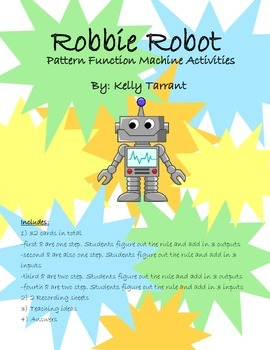 Robbie Robot Pattern Function Machine Activities