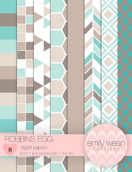 Robbin's Egg - Digital Papers