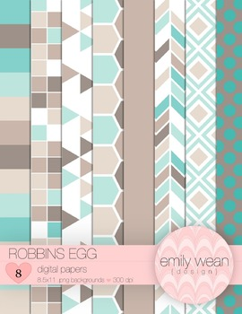 Robbin's Egg - Digital Papers