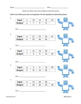 Robby the Robot - Input/Output Tables