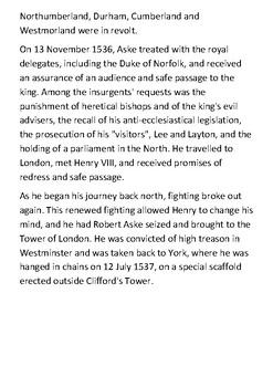Robert Aske Handout