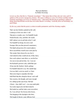 "Robert Browning's ""My Last Duchess"""