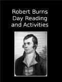 Robert Burns Day Reading and Activities, NO PREP