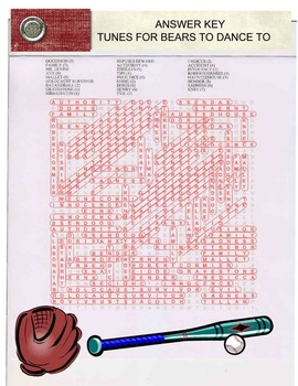 Robert Cormier's Tunes For Bears To Dance To Word Search