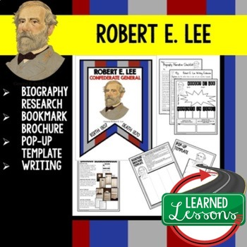 Robert E. Lee Biography Research, Bookmark Brochure, Pop-Up, Writing, Google
