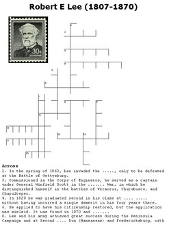 Robert E Lee Crossword