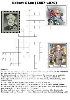 Robert E Lee Crossword and Word Search