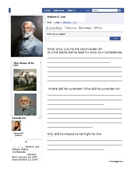Robert E. Lee Facebook SOL VS.7b